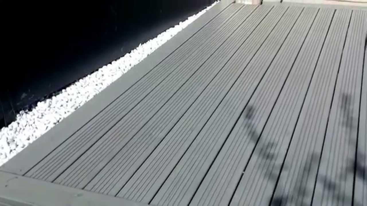 ARTIBOIS 91 Terrasse en pin avec saturateur gris bêton