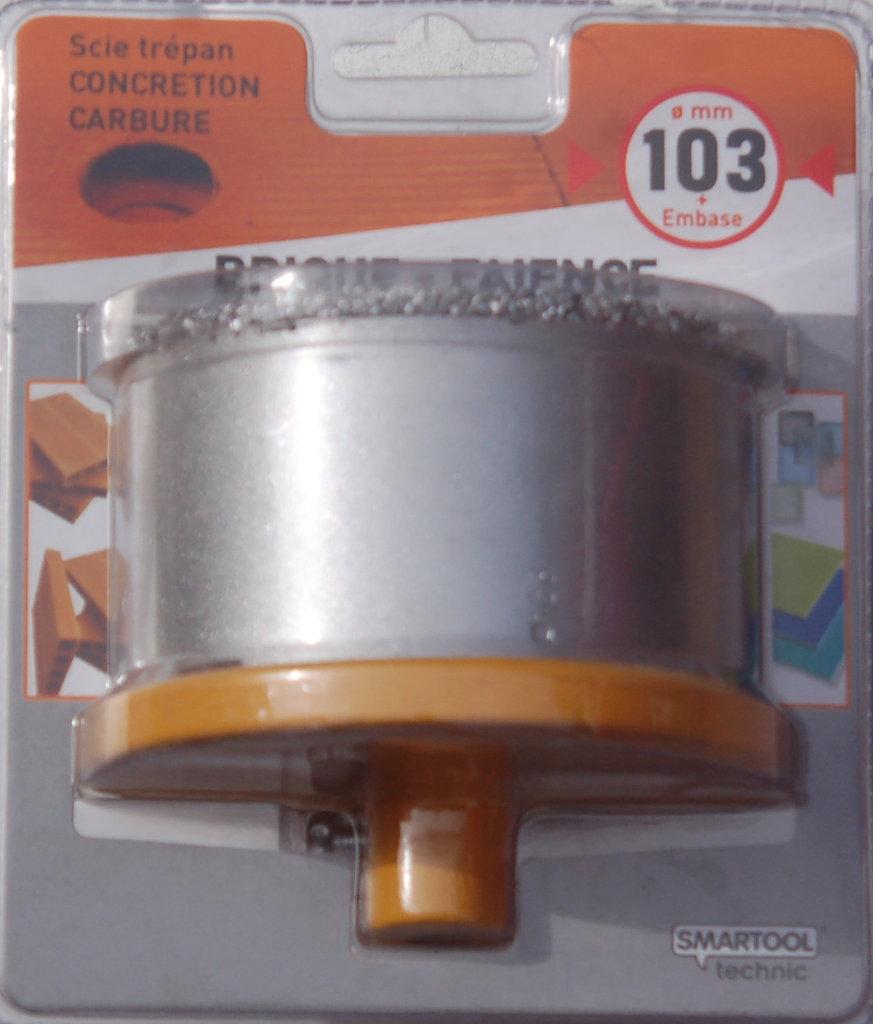 Scie Cloche carbure et plateau SMARTOOL D 103 pour