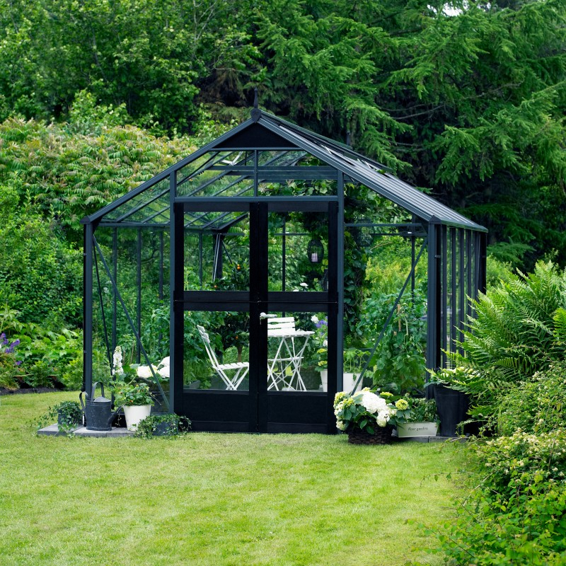Serre De Jardin Serre De Jardin 13m² Anthracite Et Verre Horticole Premium