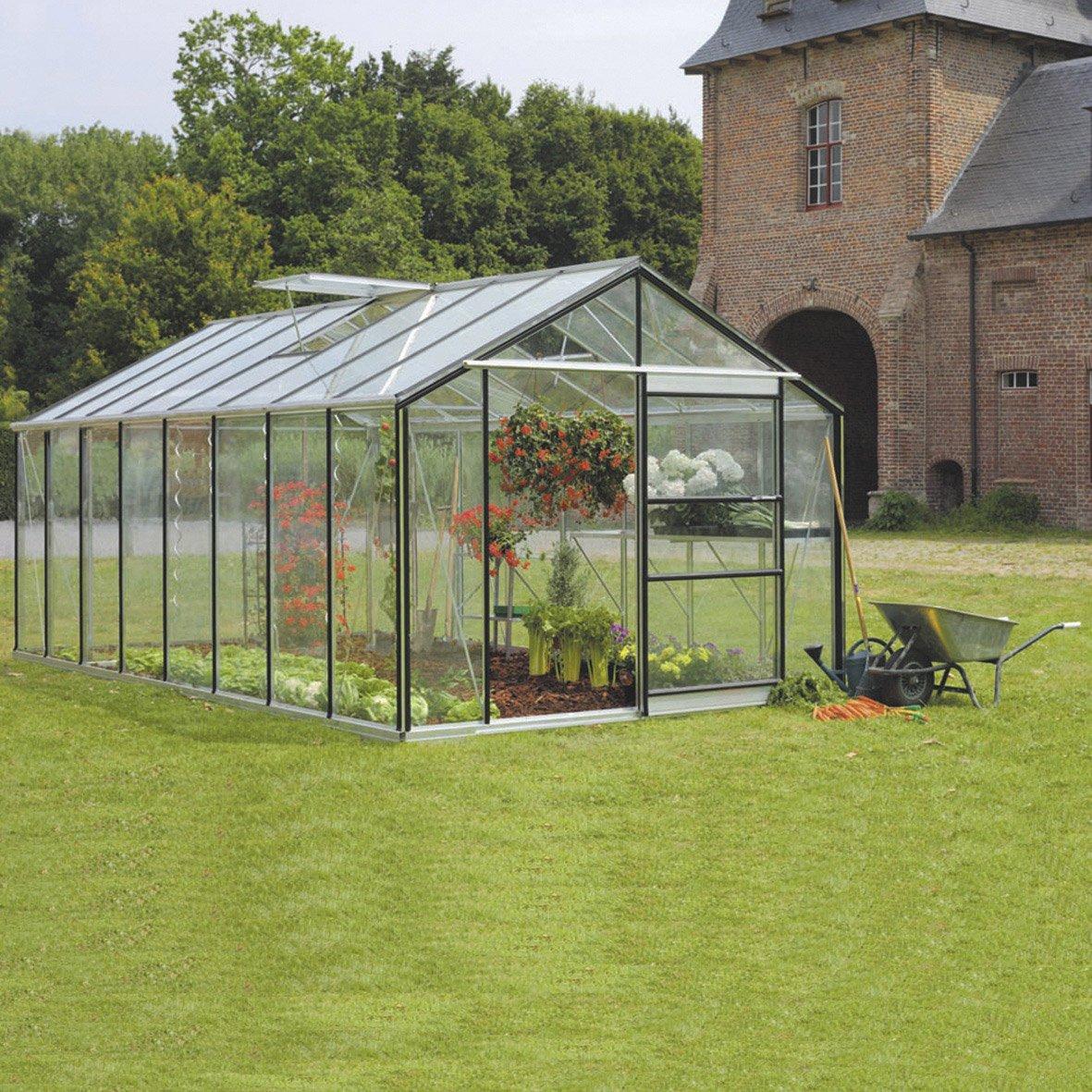 Serre De Jardin Serre De Jardin En Verre Trempé Affinity 18 236 M²