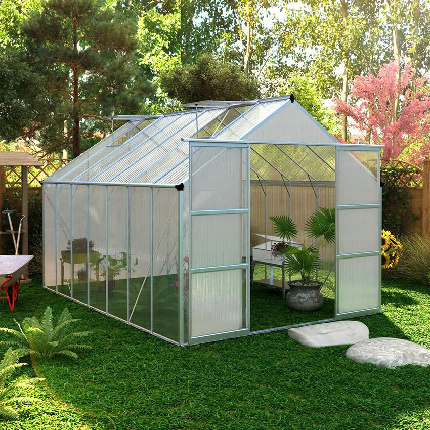Serre De Jardin Serre De Jardin Polycarbonate 13m² Oogarden France