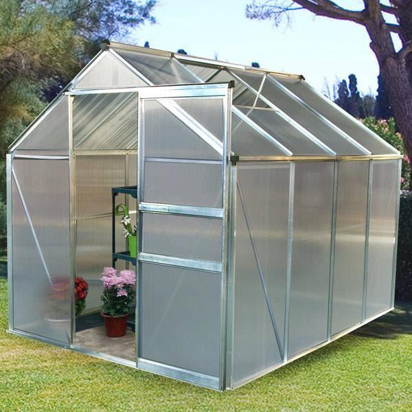 Serre De Jardin Serre De Jardin Polycarbonate 4 8m² Achat Vente Serre