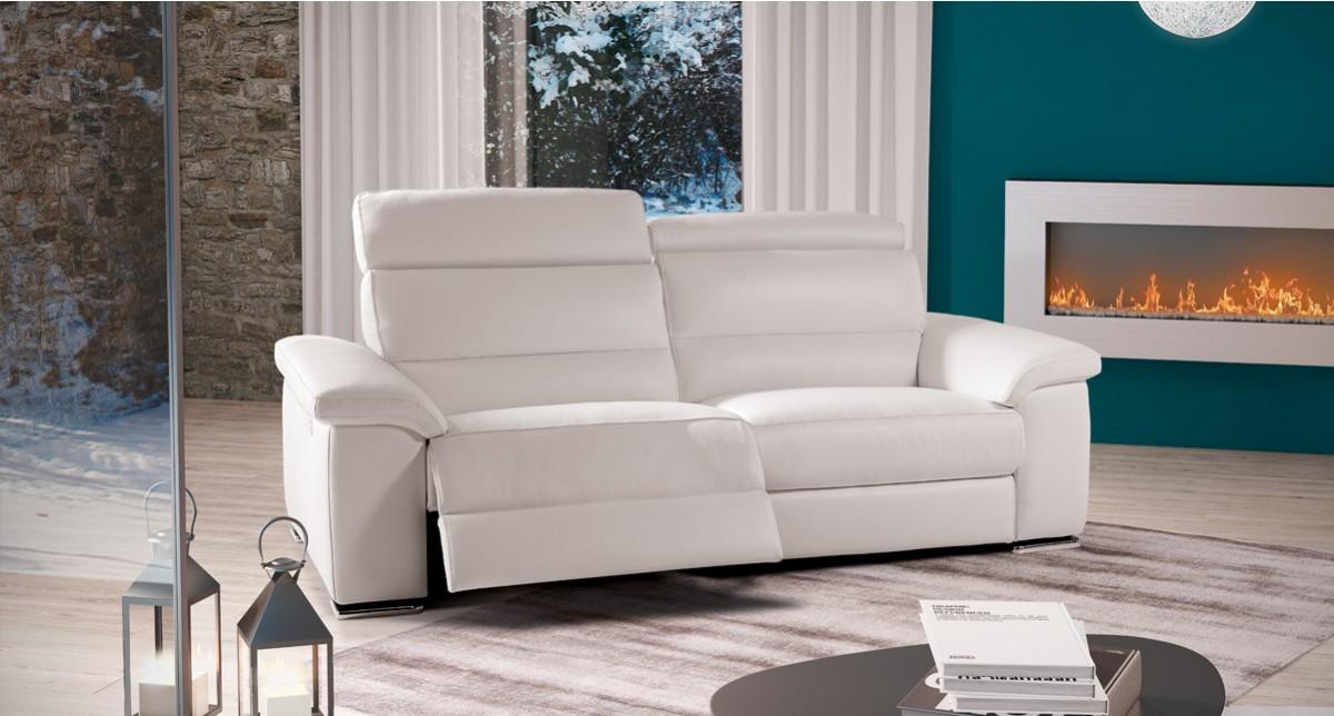 Canapé 3 places relaxation électrique Nebraska Mobilier