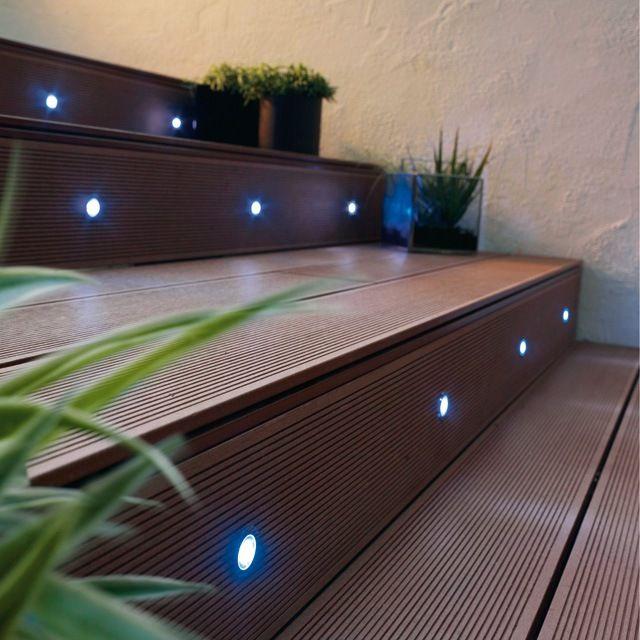 10 Spots encastrables Bilis lumière bleue Led intégrée
