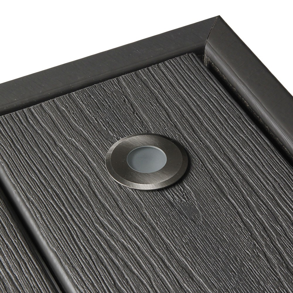 spot LED NOD inox encastrable pour terrasse en bois
