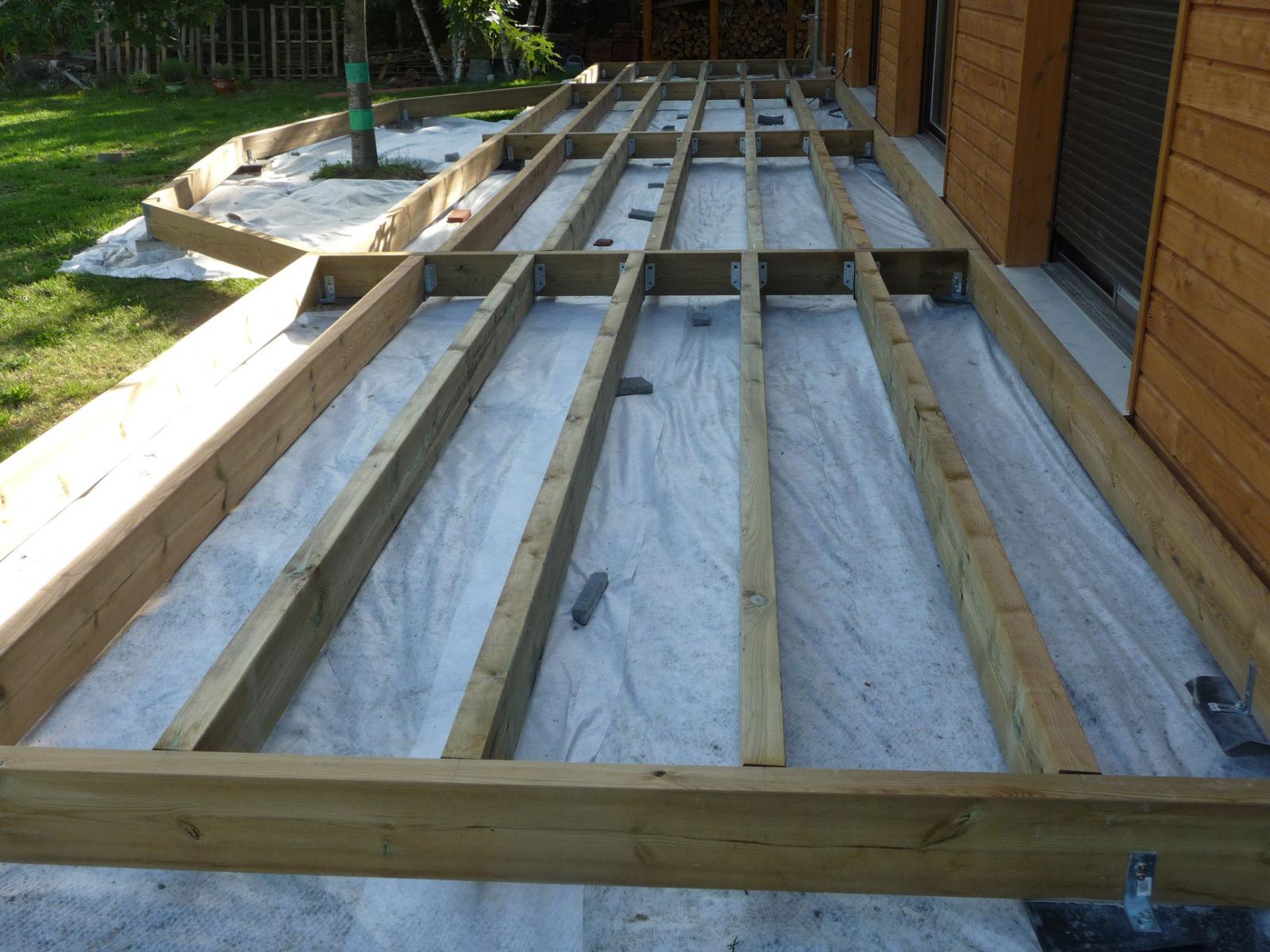 Construction d une terrasse en bois Assemblage du solivage