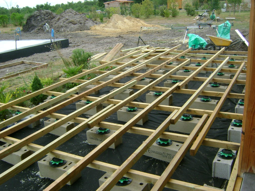 pose terrasse bois landes 40 terrasse en bois blanc