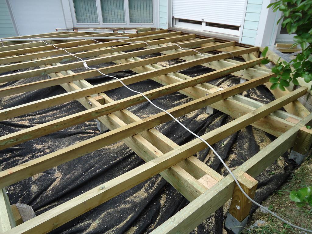 pose terrasse bois sur pilotis dans les Landes terrasse