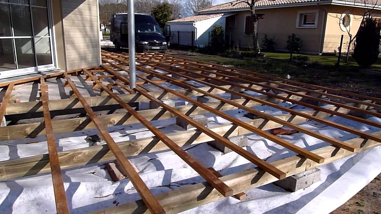 structure terrasse bois en ipé et terrasse fini