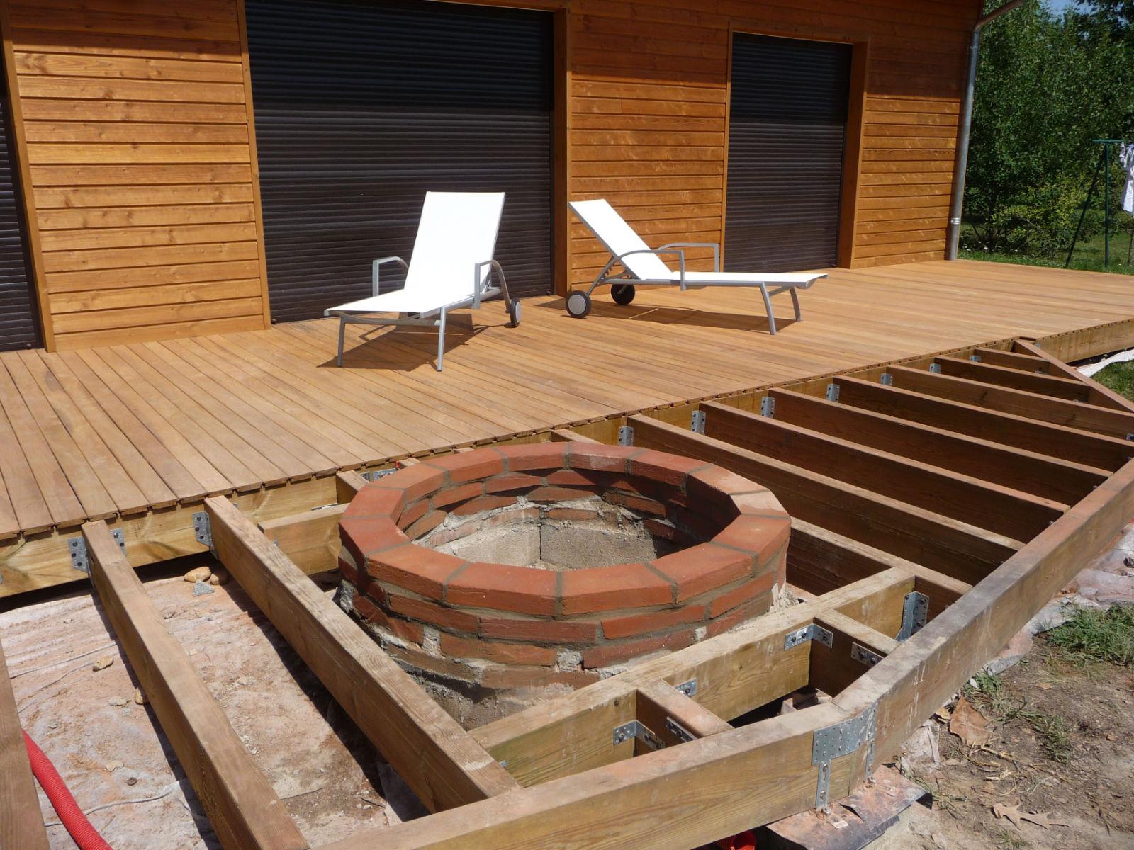 Terrasse Surélevée En Acier structure terrasse bois construction d une terrasse en bois