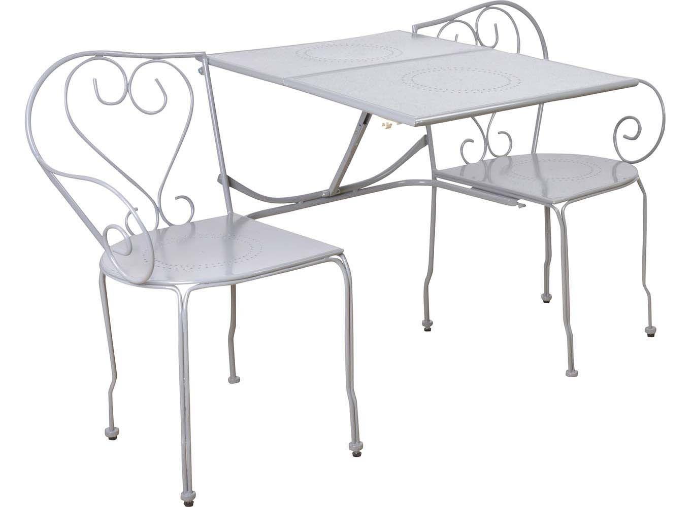 Banc de jardin convertible en table chaises classique