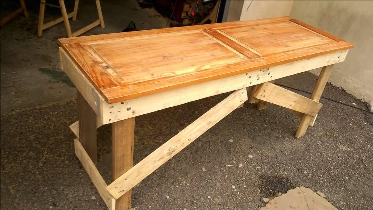 banc en palette table en palette table de jardin