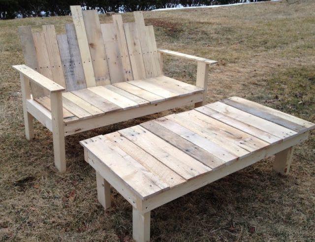 Faire un banc en palette de bois et le décorer soi même