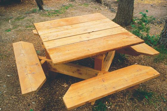 Plan table banc exterieur bois – Table de lit