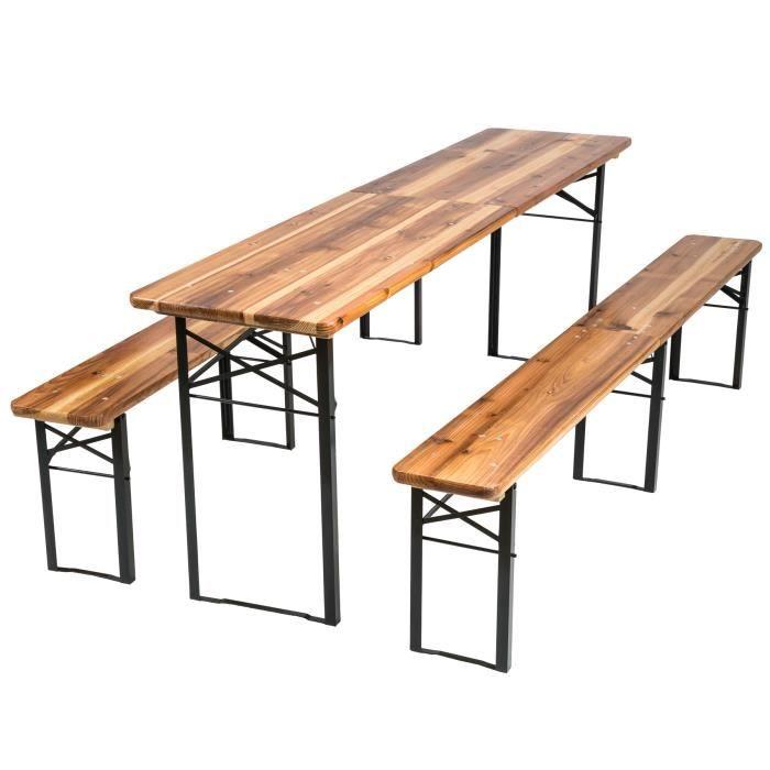Table avec banc en bois Achat Vente Table avec banc en