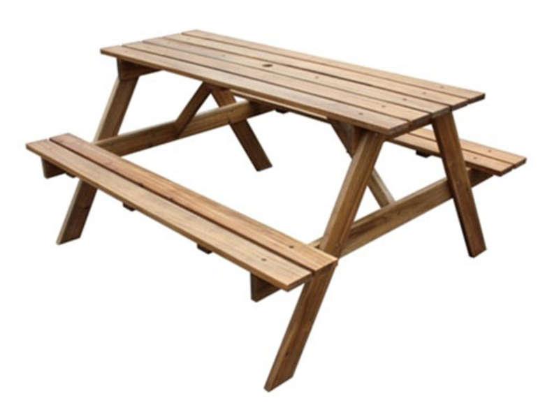 Table de jardin 2 bancs en acacia massif Vente de