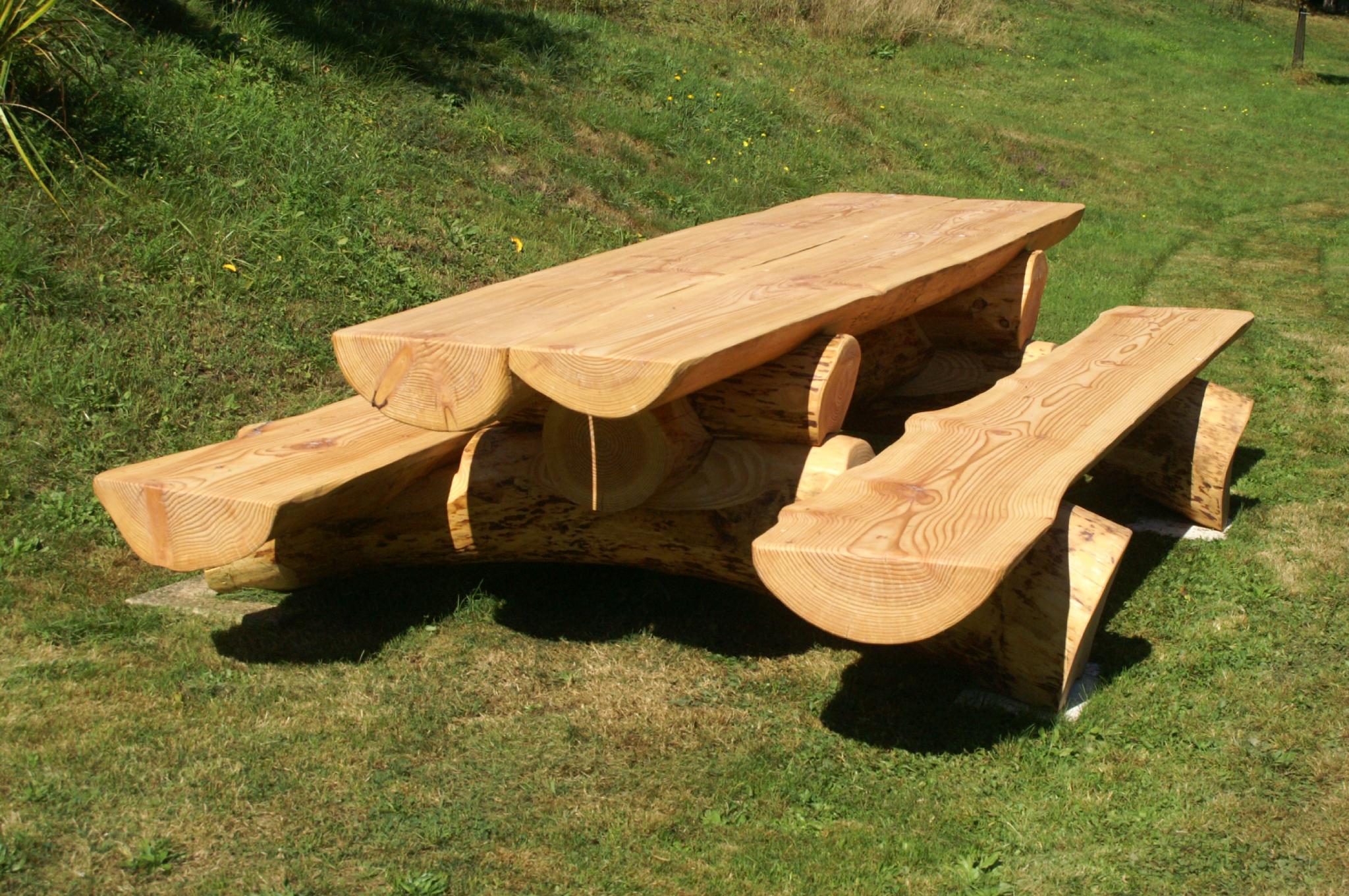 Table De Jardin Avec Banc Bois
