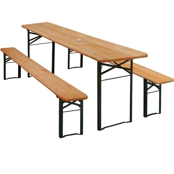 Table Banc Jardin Table Et 2 Bancs Pliants Table Brasserie Achat Vente