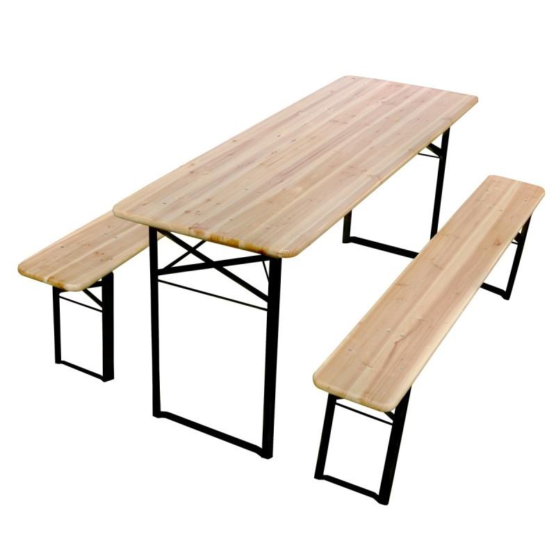 Table et banc pliant bois