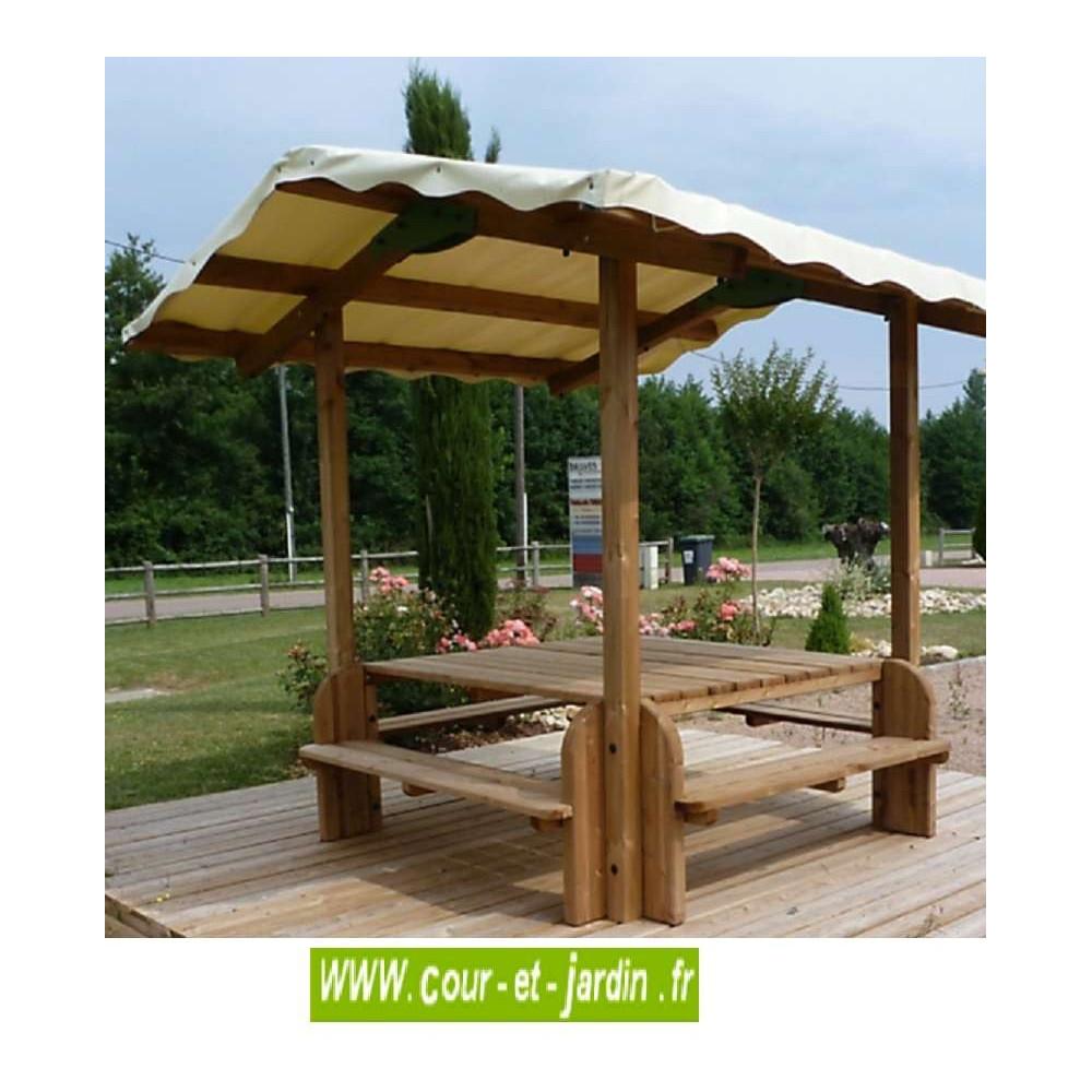 Table pique nique bois table de jardin bois avec banc