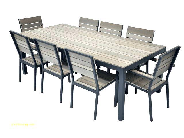 Table chaise exterieur pas cher Mailleraye jardin