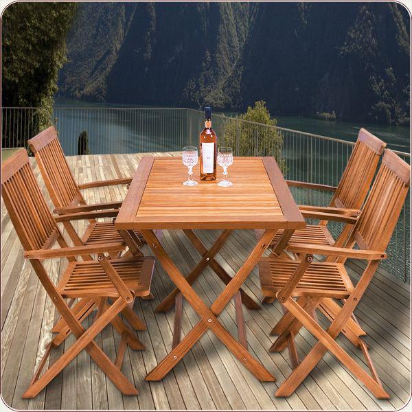 table de jardin en bois pas cher