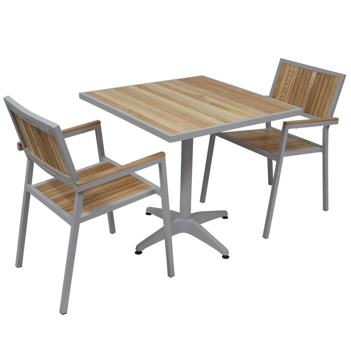 Table et chaise de jardin bois Maison François Fabie
