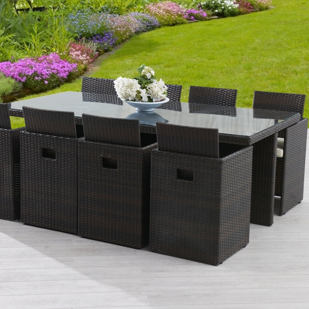 Table et chaise de jardin en résine tressée pas cher