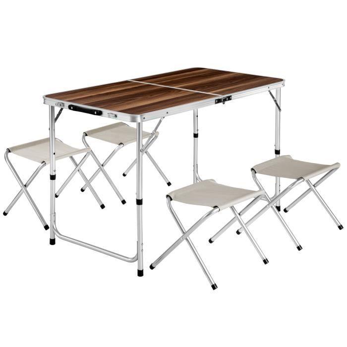 Table pliante avec chaises Achat Vente pas cher