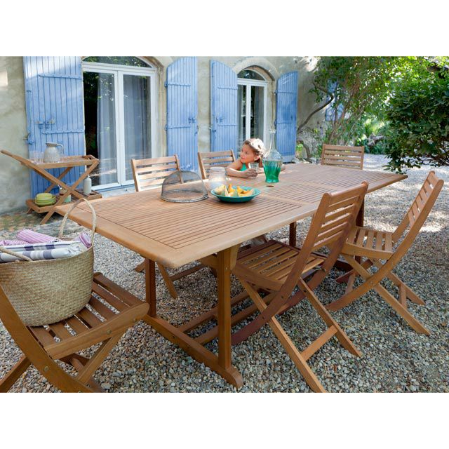 Salon de jardin en bois Collection Aland