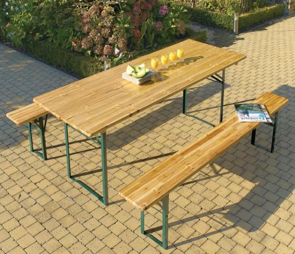 Table bois jardin Wikilia