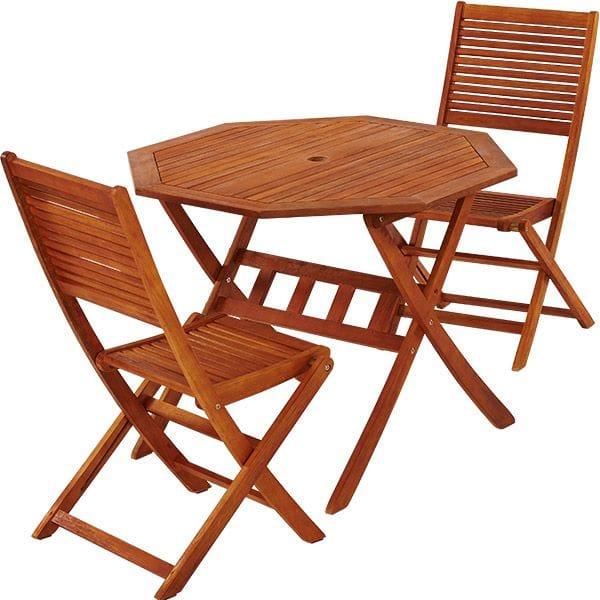 table de jardin 2 personnes bois