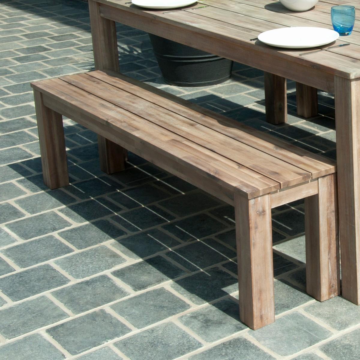 Table de jardin avec banc pas cher