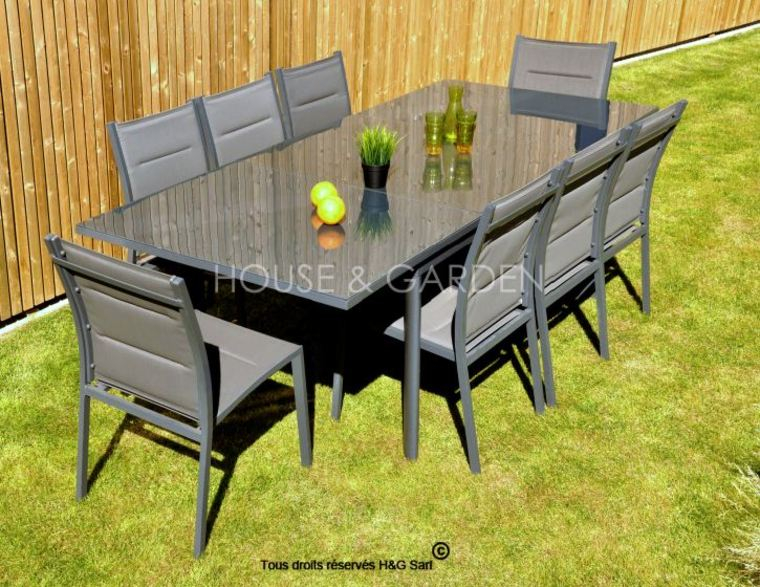 Table jardin aluminium pas cher Bricolage Maison et