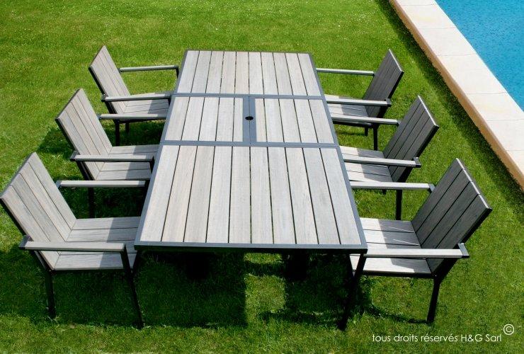 Table jardin aluminium pas cher Cabanes abri jardin