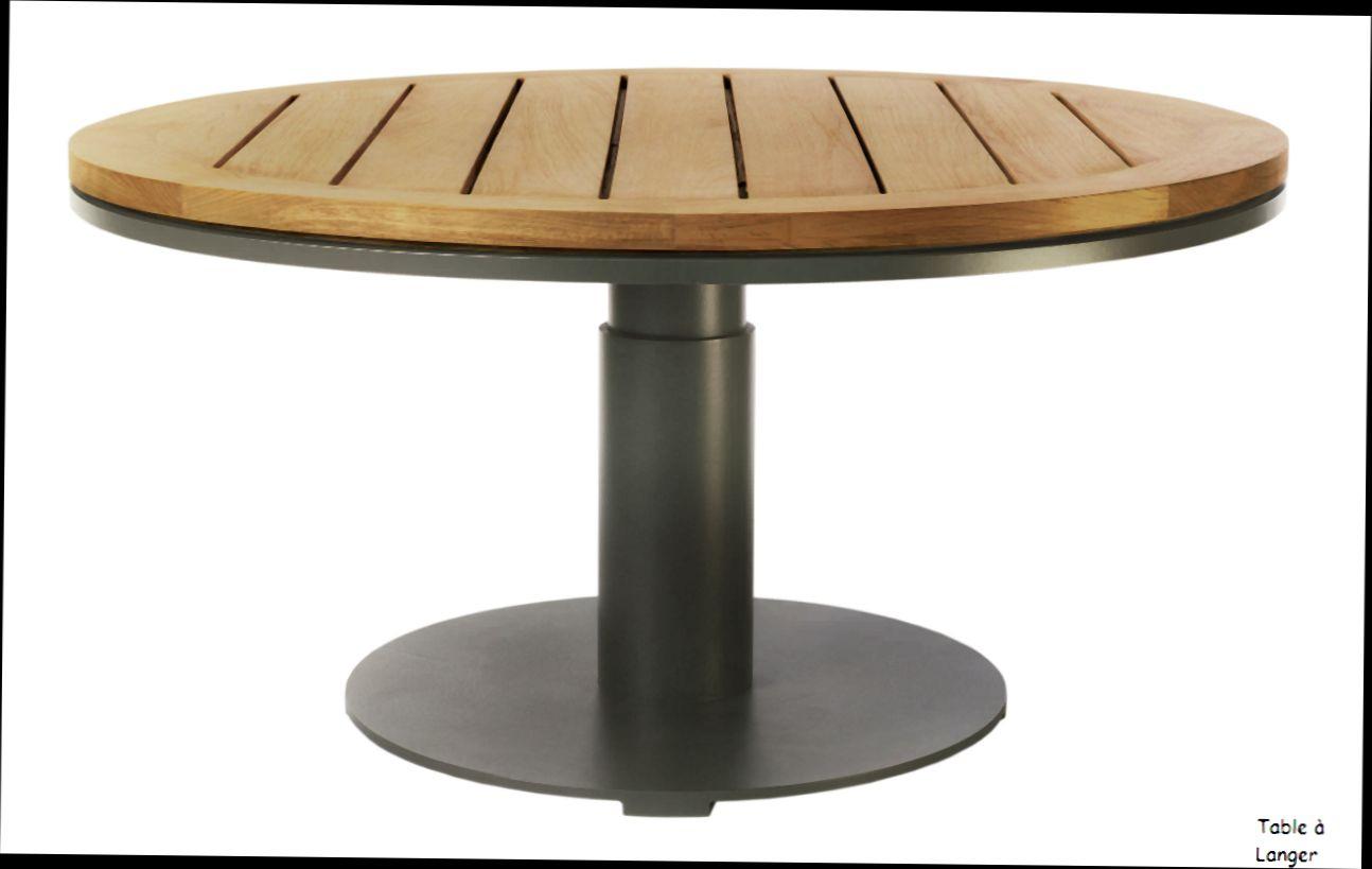Table de jardin bois pas cher table ronde jardin mc immo - Bordure de jardin en pierre pas cher ...