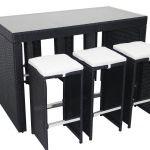 Table De Jardin En Résine Table Bar De Jardin En Résine Tressée