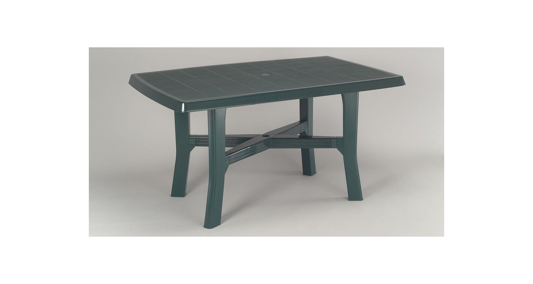 Table De Jardin En Résine Table De Jardin Verte En Résine Polypropylène 6 Personnes