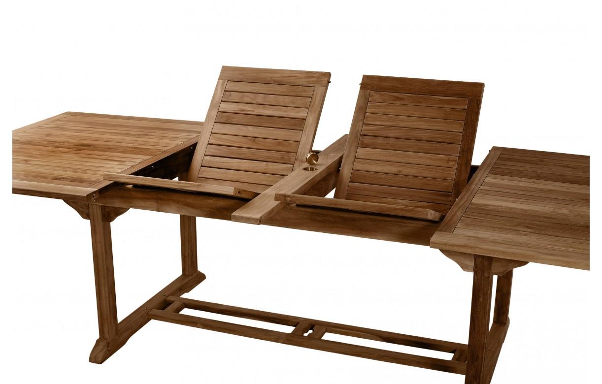 Table De Jardin En Teck Table De Jardin En Teck Extensible 300cm 8 Chaises Besuki