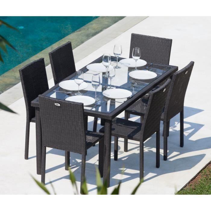 Table De Jardin Resine Arcachon Ensemble Table De Jardin 6 Places Acier Et Résine