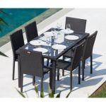 Table De Jardin Resine Ensemble Table De Jardin 6 Chaises Acier Et Résine