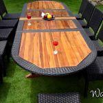 Table De Jardin Resine Salon De Jardin Ensemble Table Teck Résine Et Chaises