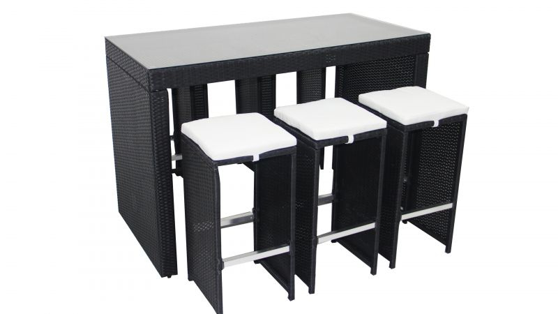 Table De Jardin Resine Table Bar De Jardin En Résine Tressée