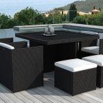 Table De Jardin Resine Table Et Fauteuils De Jardin Encastrables En Résine