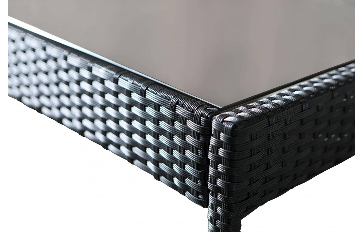 Salon de jardin résine pas cher Canapé 2 fauteuils 1