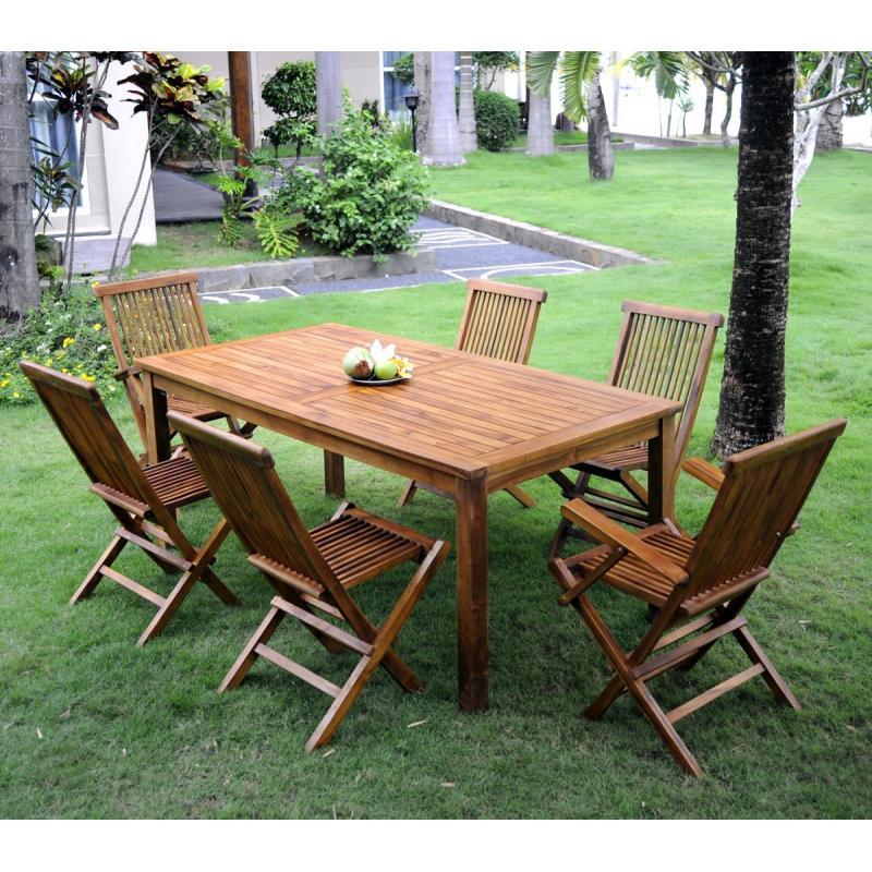 table de jardin 6 places pas cher