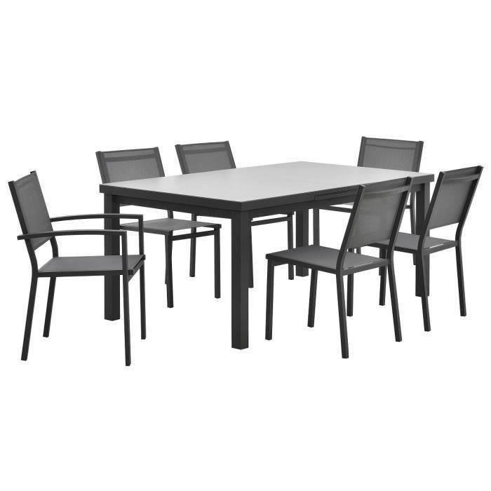 Table de jardin aluminium extensible chaises Achat