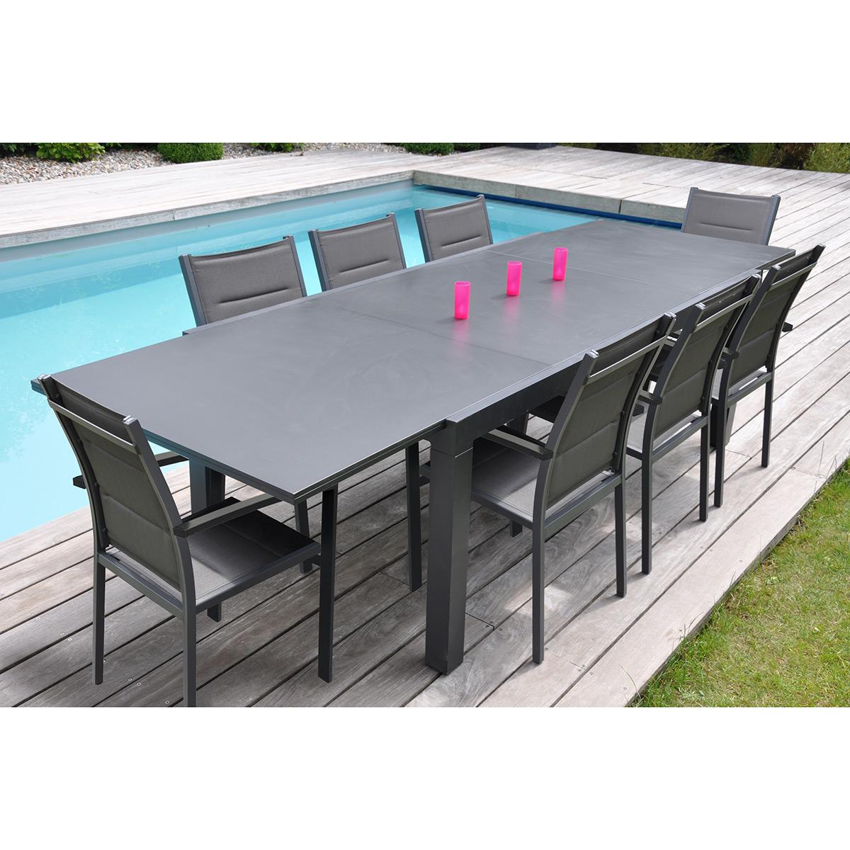Table de jardin aluminium pas cher mobilier exterieur bois