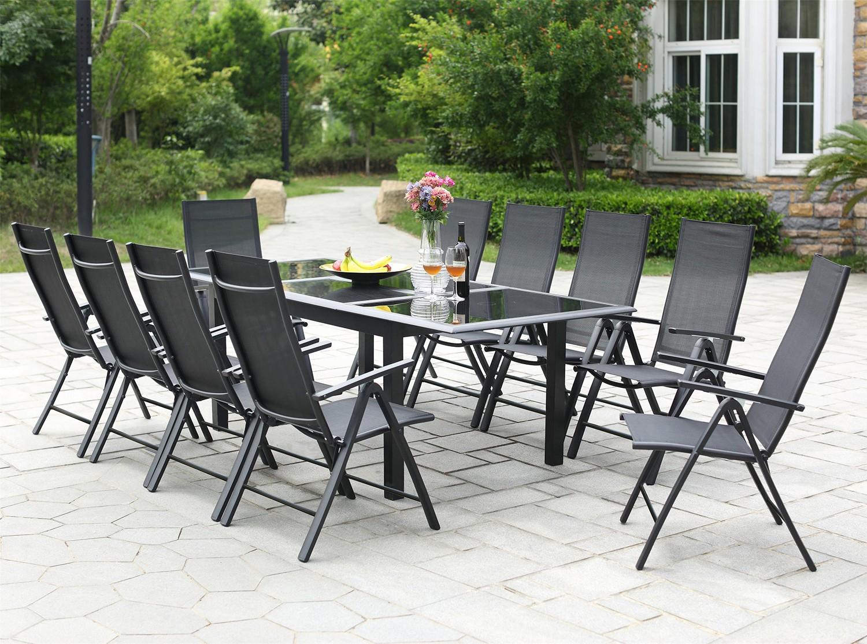 Table de jardin extensible 12 personnes 10 chaises en