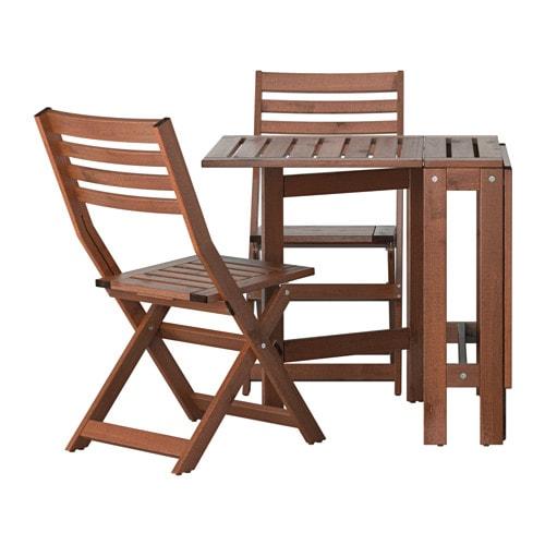 ÄPPLARÖ Table 2 chaises pliantes extérieur IKEA